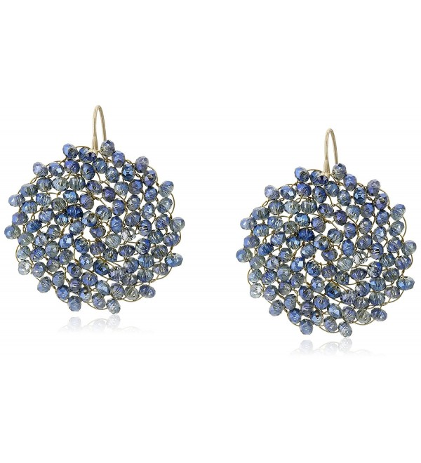 "Kenneth Cole New York ""Woven"" Woven Faceted Bead Round Drop Earrings - CZ11EQIRGVF"
