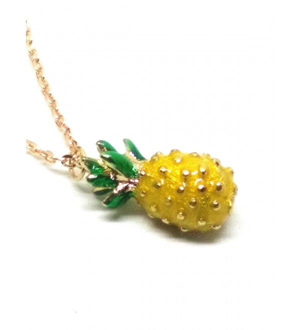 Vintage Pineapple Pendant Long Chain Necklace - CB17YTIG333