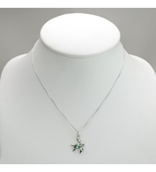 Sterling Natural Abalone Pendant Necklace in Women's Pendants