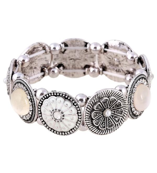 EXCEED Handmade Stretch Rhinestone Bracelet - Bracelet Anti Silver - C4120A8D1SF
