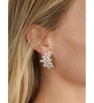Mariell Plated Earrings Marquis Cut Clusters in Women's Stud Earrings
