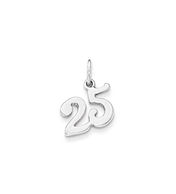 Sterling Silver Polished 25 Charm - C411R6RL0DD