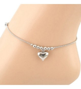 Malloom 1 PC Heart-shaped Pendant Dolphins Bead Foot Jewelry Anklet Bracelet ... - CU126DDP50J