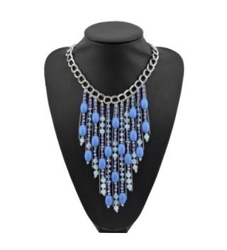 Fashion Pendant Collar Necklace NK 10346 royalblue