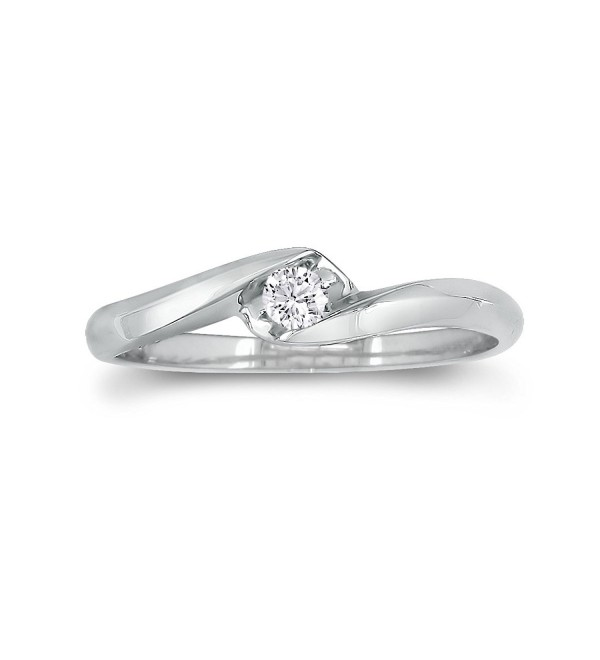 Sterling Silver Diamond Promise Ring (0.07ct) - CL12KKIXPB9