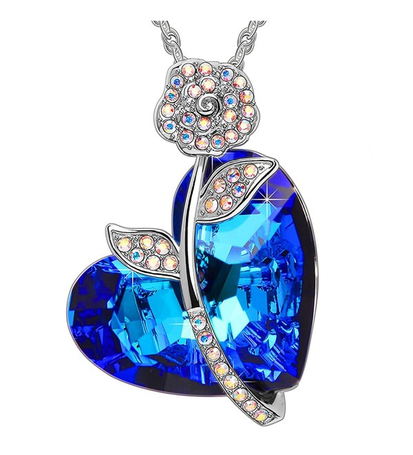 SWEETV SWAROVSKI Crystal Pendant Necklace - C91880RM70I