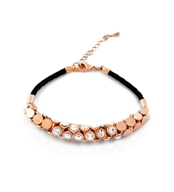 Trendy braided crystal bracelet / Gold - CG119D66YO5