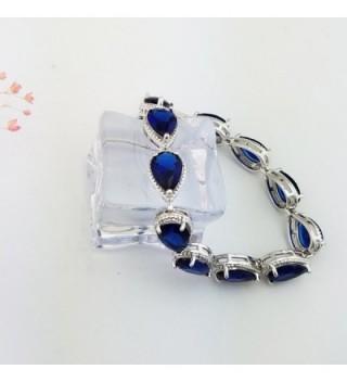 SELOVO Sapphire Teardrop Tennis Bracelet in Women's Tennis Bracelets