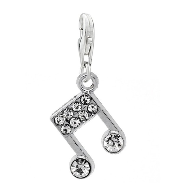 Musical Note Charm for European Clip on Jewelry w/ Lobster Clasp - CG11EPJXCSL
