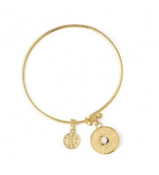 Ginger Snaps (Simulated) Gold Wire Bangle Bracelet SN95-68 (Standard Size) Interchangeable Jewelry - C8187WRICAQ