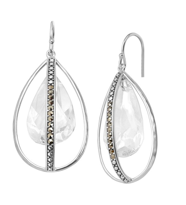 Silpada 'Happy Hour' Sterling Silver and Marcasite Earrings - C312N8SIK7E