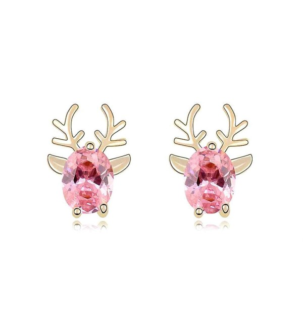 Crystal Diamond Christmas Earrings SWAROVSKI - Pink - CT11I4LE4B5