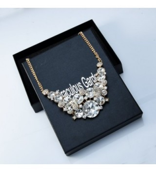 216df0f0312e6 Womens Rhinestone Chunky Choker Necklace Crystal Gold Jewelry Gifts for  Bridal Wifes - White - C0184T3OL64