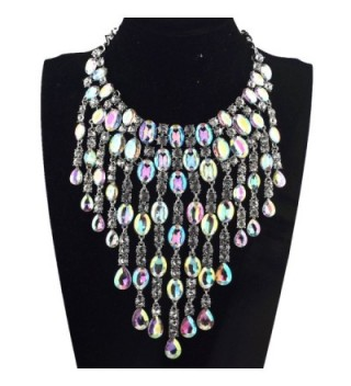 Qiaose Crystal Necklace Wedding Statement