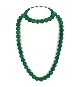 Womens Sterling Aventurine Bracelet Necklace in Women's Jewelry Sets