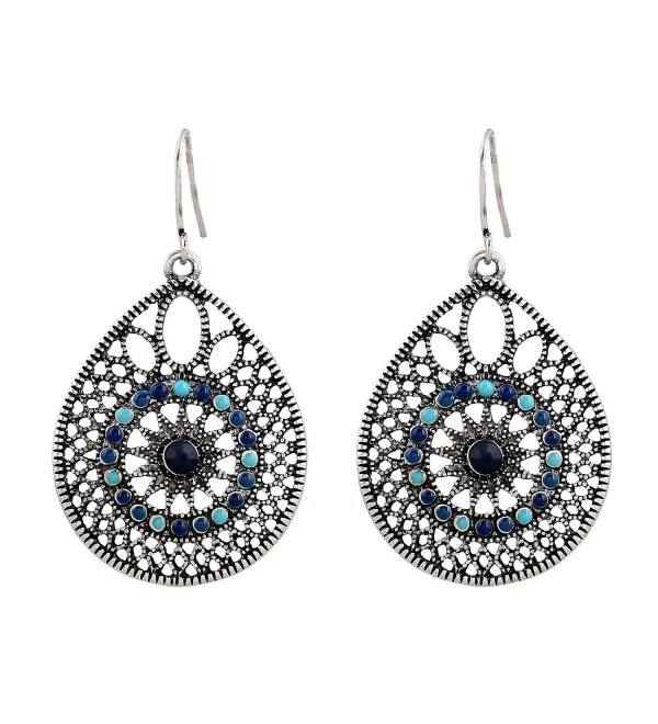 D EXCEED Womens Handmade Filigree Enamel Dangle Drop Earrings - CQ12M9ROGW1