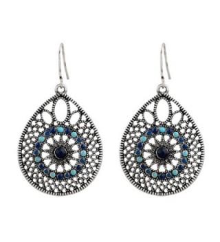 D EXCEED Womens Handmade Filigree Enamel Dangle Drop Earrings - CQ12M9ROGW1