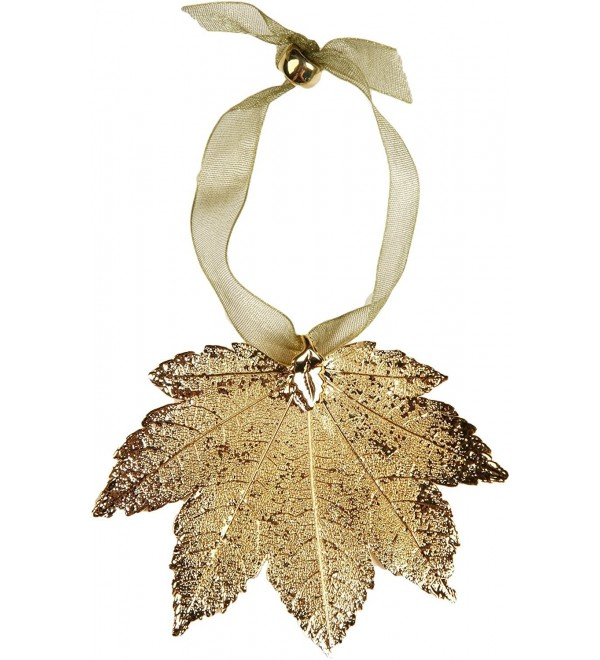 Leaf Ornament - Full Moon Maple- Gold-plated. Real Leaf! - CY126V2V619
