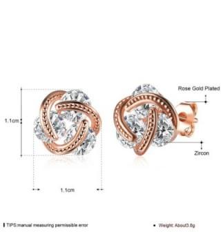 Love heart Cubic Zirconia Earrings in Women's Stud Earrings