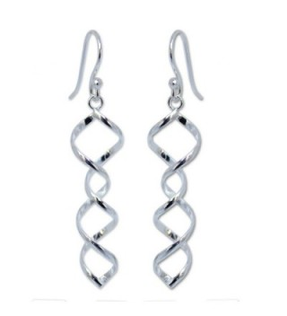 NOVICA .925 Sterling Silver Spiral Dangle Earrings- 'Songkran Joy' - CV11CGNITHH