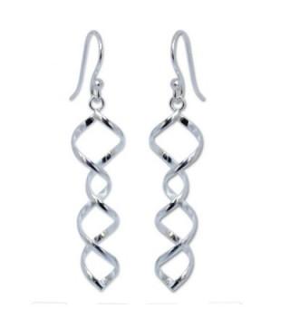 NOVICA .925 Sterling Silver Spiral Dangle Earrings- 'Songkran Joy' - CV11CGNITHH
