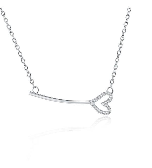 Rosa Vila Key With Heart Necklace - Horizontal Key Shaped Necklaces For Women - C018996TAD8