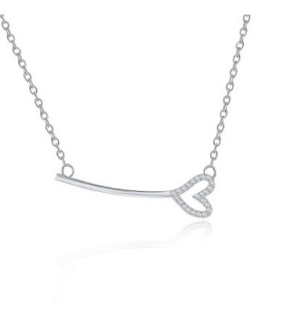 Rosa Vila Key With Heart Necklace - Horizontal Key Shaped Necklaces For Women - C018996TAD8