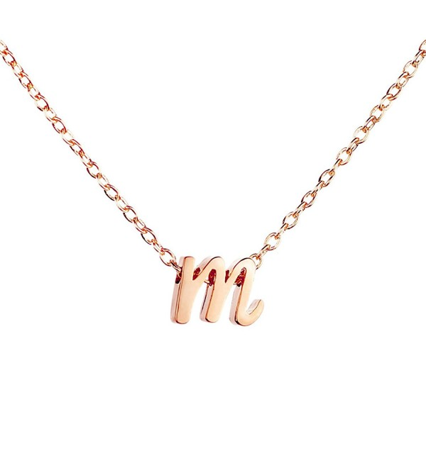 Rose gold Initial Necklace Initial Pendant Necklace Mothers Day Gift Graduation Gift Personalized Necklace - CO17YL9I0W5