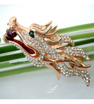 Navachi Plated Crystal Dragon Az7968b in Women's Brooches & Pins