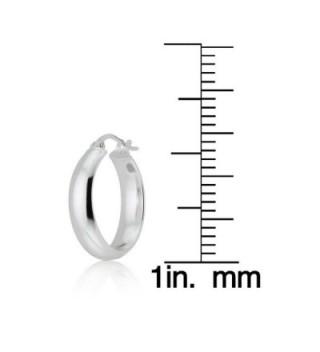 Sterling Silver Design Polished Earrings in Women's Hoop Earrings
