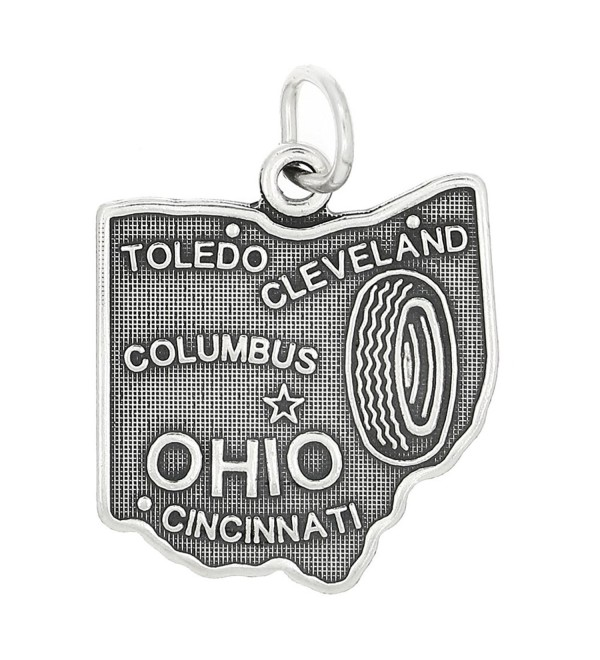 Sterling Silver State of Ohio Charm - CZ11EP8J2PJ