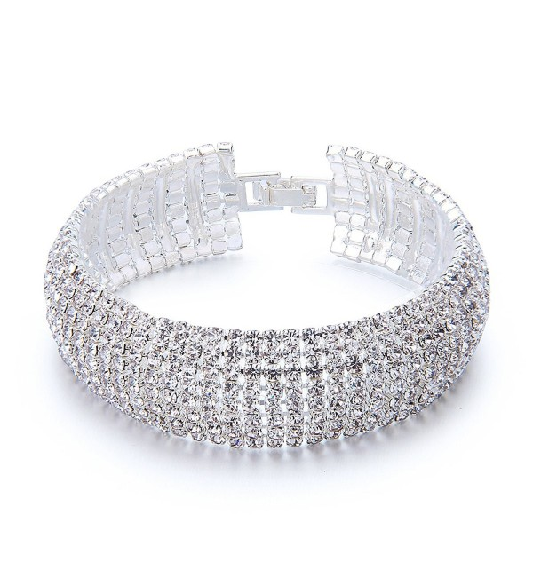 YUXI Rhinestone Bracelet Austrian Bracelets - CL182YM9NTT
