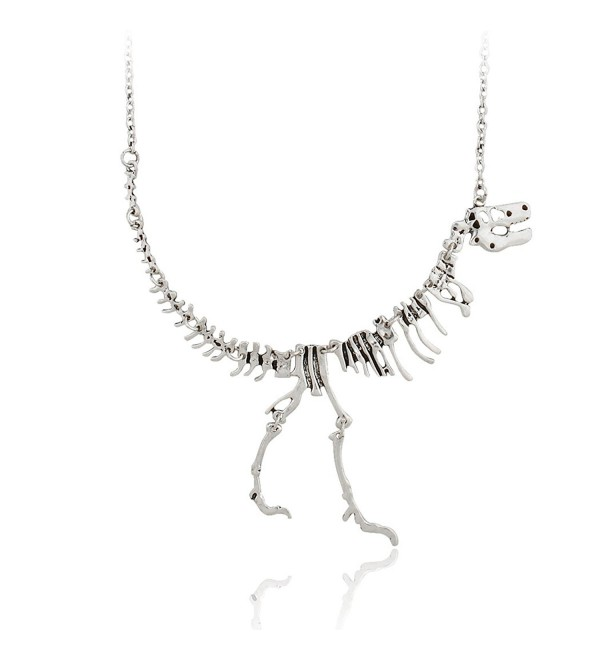 Jane Stone Dinosaur Vintage Necklace Short Collar Fashion Costume Jewelry for Women Teens - Antique Silver - CB12672CP6D