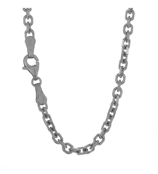 "Jewelstop 10k Solid White Gold 0.8 mm Cable Chain Necklace- Lobster Claw Clasp - 20"" - CL119MYZZIT"