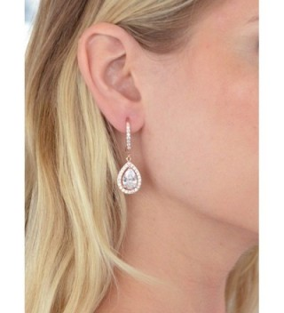 Mariell Pear Shaped Wedding Teardrop Earrings in Women's Drop & Dangle Earrings