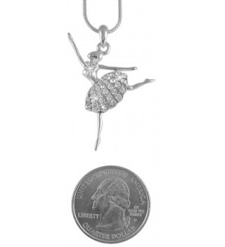 Ballerina Ballet Dancer Pendant Necklace in Women's Pendants