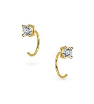 Bling Jewelry Plated Threader Earrings in Women's Hoop Earrings