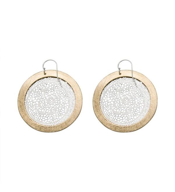 Takobia Women's Two Part Rose Earrings - C311Z2MDW2V