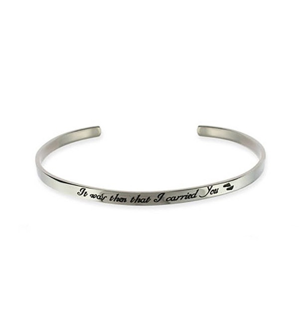 Stainless Steel Footprints In The Sand Cuff Bracelet - CL111TCDN9P