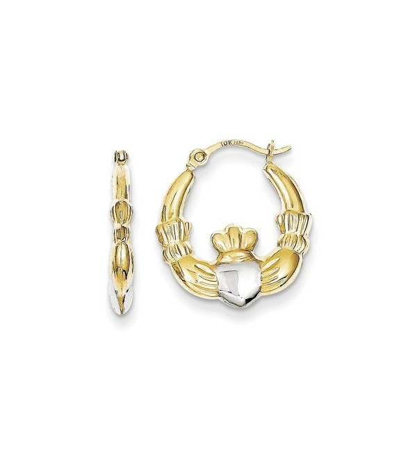 10K Gold Claddagh Hoop Earrings - CA12BY7NFGF