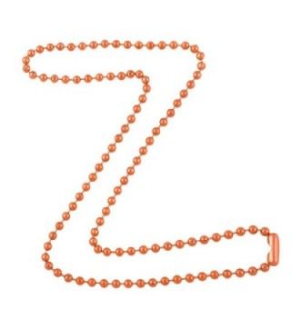 3.2mm Bright Copper Ball Chain Necklace with Extra Durable Color Protect Finish - C312IERSU5J