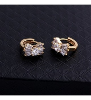 YAZILIND Plated Zirconia Huggies Earrings