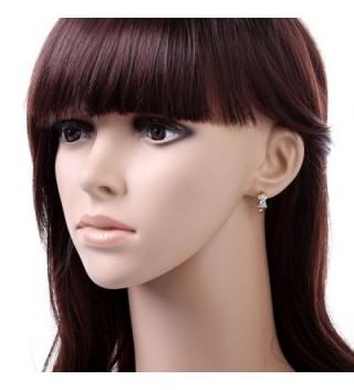 YAZILIND Plated Zirconia Huggies Earrings in Women's Hoop Earrings