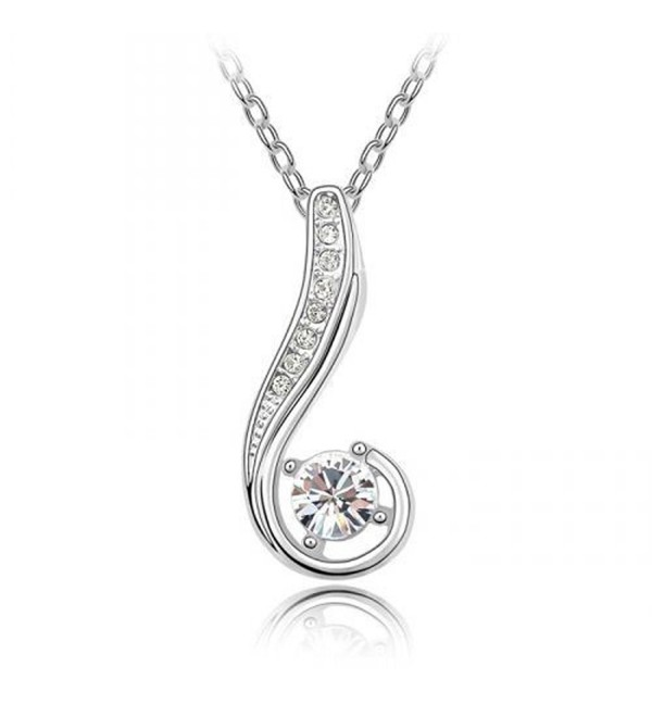 Sparkling Colored and Clear Journey Charm Necklace - Clear - CV11HUYMSW9