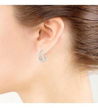 LOVVE Sterling Polished Filigree Earrings in Women's Hoop Earrings