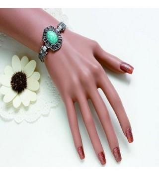 Susenstone Plated Turquoise Bracelet Adjust