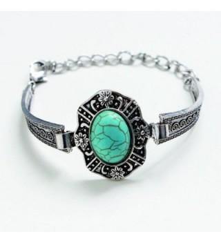 Susenstone Plated Turquoise Bracelet Adjust in Women's Anklets