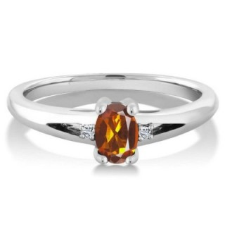 Orange Madeira Citrine Sterling Silver