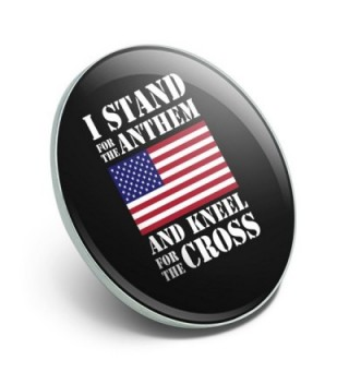 Stand Kneel American Patriotic Pinback