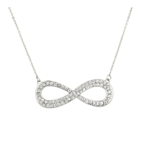 Lux Accessories Pave Crystal Infinity & Beyond Pendant Necklace. - CX11WNVGPJ1